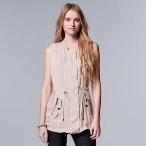 Women's Simply Vera  Wang Trapunto Utility Vest